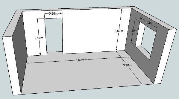 Произвести расчёты площади комнаты в полном объёме можно только определив точные размеры стен, пола и потолка