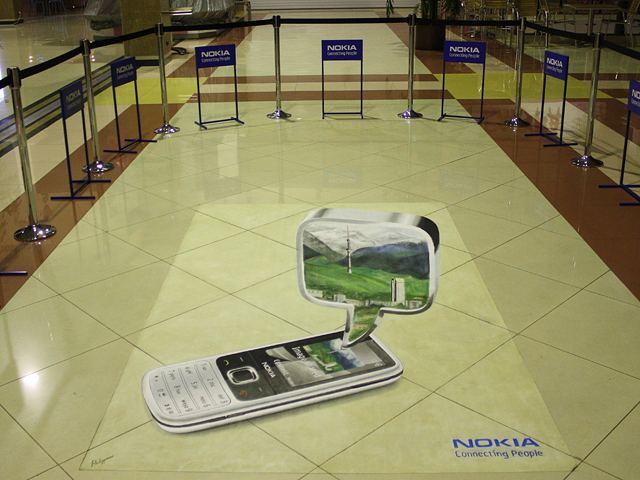 Напольный 3D-логотип фирмы не только привлечет внимание, но закрепит в мозгу посетителя стойкий визуальный образ фирмы