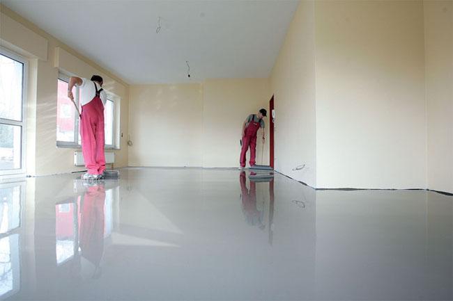 Полы со смесей на гипсовой основе практически не усаживаются, но использовать их можно только в абсолютно сухих помещениях