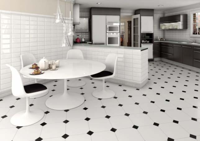 Напольная плитка для кухонного пола долгое время сохраняет свою актуальность и востребованность