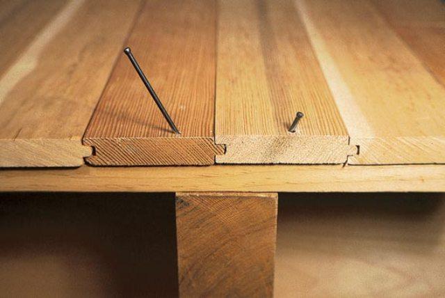 Такая поверхность не деформируется и не скрипит, а стяжка представляет для лаг надежную и прочную опорную поверхность по всей их длине