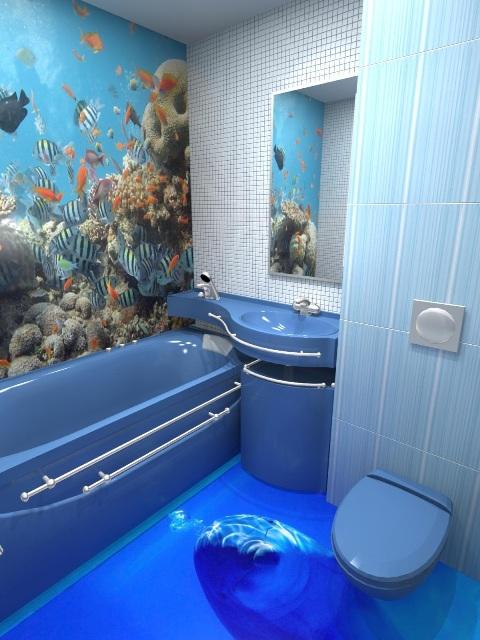 Еще один вариант – наливные полы, которые благодаря своей прочности и герметичности отлично подходят для ванной