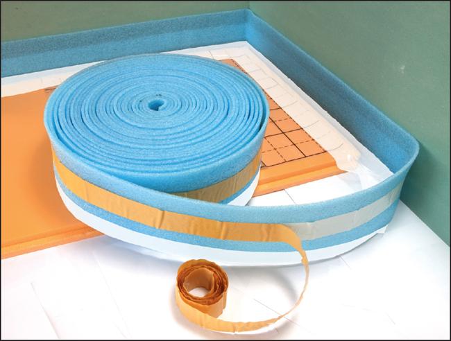 Демпферная лента имеет низкий коэффициент теплопроводности и высокий коэффициент звукопоглощения