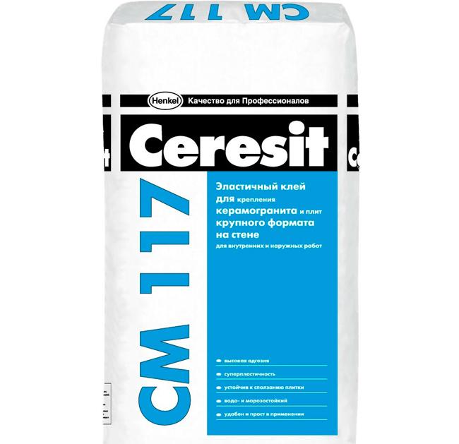 Хорошо зарекомендовали себя для укладки плитки на плитку клеевые смеси от «Ceresit»