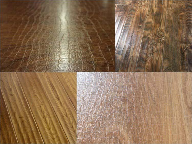 Ламинированные доски могут обладать различными текстурой и фактурой