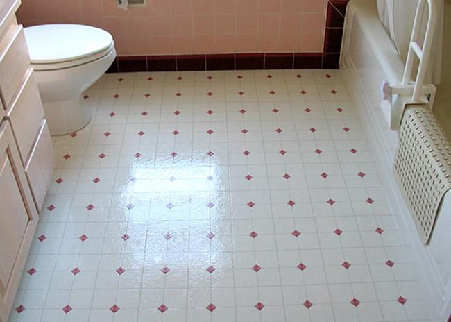 Кафельная плитка на пол в ванной своими руками