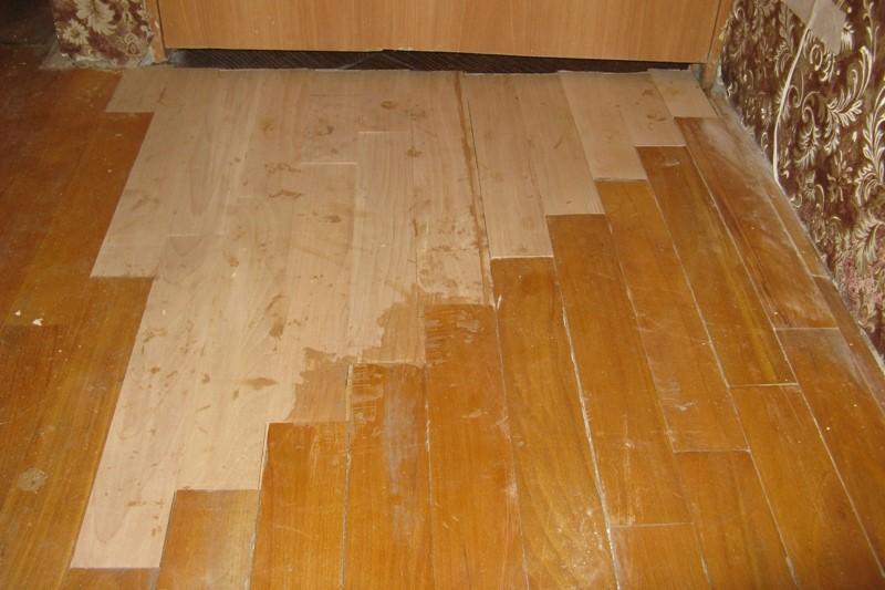 После восстановительных работ покрытие должно быть максимально ровным, не скрипеть и не шататься