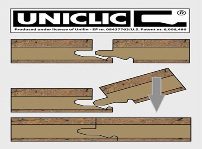 Благодаря использованию технологии «Uniclic», панели этого ламината соединяются между собой очень прочно и практически без зазоров