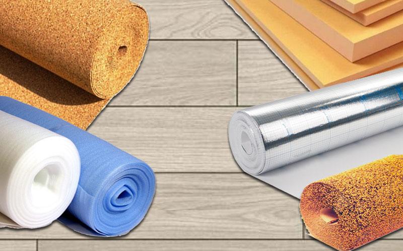 Существует несколько видов подложек под ламинат, которые применяются при укладке покрытия на деревянные полы