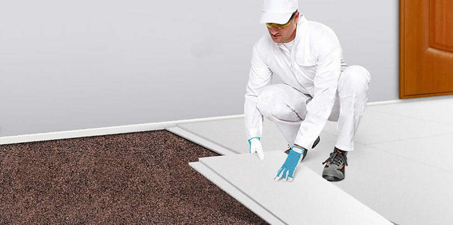 Система «Кнауф-суперпол» позволяет выполнить все работы буквально за несколько дней и не делать технологический перерыв на высыхание стяжки – к укладке чистового напольного покрытия можно приступать сразу же
