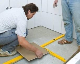 Этапы укладки плитки