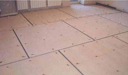 Фанера укладывается либо на бетон, либо на лаги, либо на деревянный пол