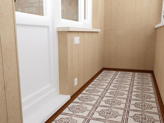 Устройство пола лоджии из плитки является более дорогостоящим, но долговечным вариантом