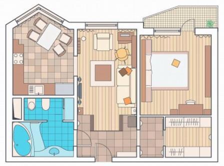 Производить расчеты по нарисованной схеме помещения гораздо проще