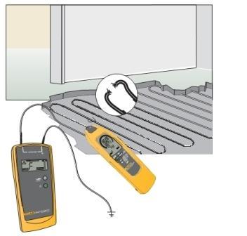 Для обнаружения разрыва в цепи электрического пола понадобится специальное оборудование