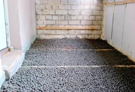 В зависимости от размера гранул коэффициент теплопроводности этого материала варьируется от 0.07 до 0.16 Вт/м