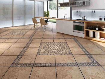 Керамическую плитку укладывают в комнатах, где нужна максимальная водостойкость и износоустойчивость