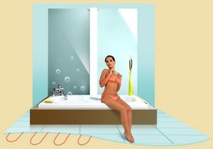 Достоинства теплого пола в ванной комнате переоценить невозможно