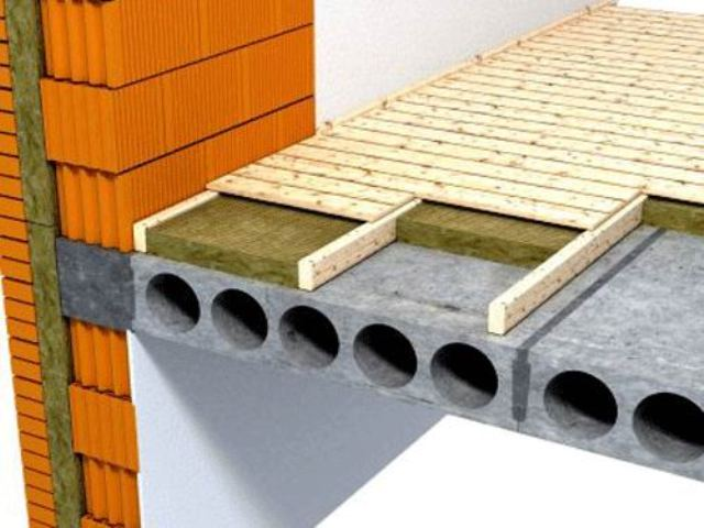 Традиционно утепление деревянного пола выполняется укладкой плит (рулонов) утеплителя между имеющимися лагами