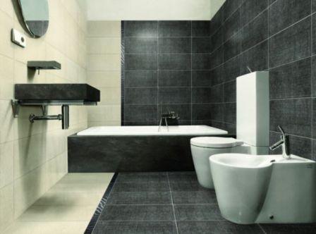 Керамическая плитка традиционно используется для комнат с повышенной влажностью