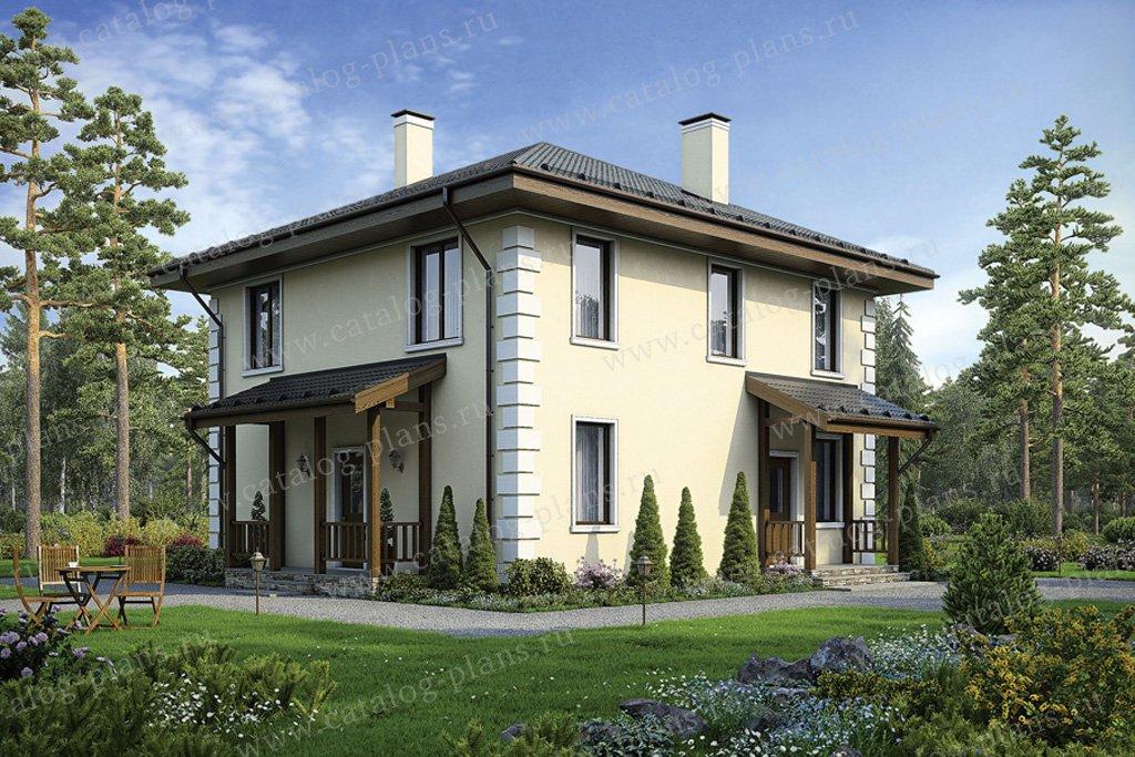 Проект двухэтажного кирпичного дома № 40-04 в европейском стиле