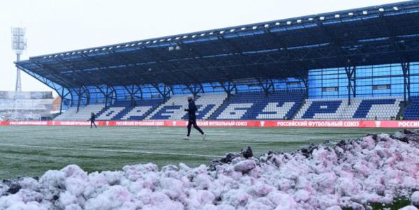 Матч чемпионата России по футболу перенесли из-за погодных условий
