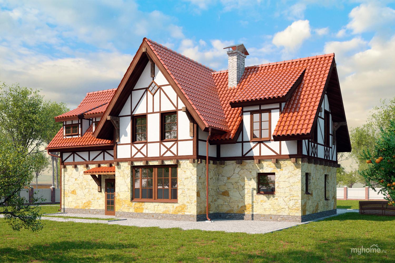 дом в стиле фахверк фото самые популярные
