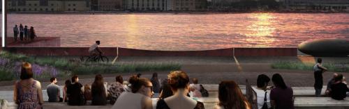 На набережной Марка Шагала появятся кафе и смотровые площадки