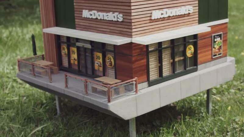 McDonald's открыли миниатюрный ресторан для пчёл