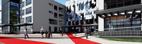 Школу космической королевы построят в районе Левобережный