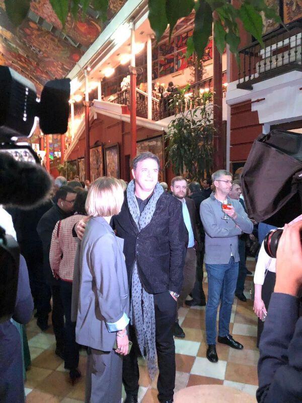 Максим Виторган и Нино Нинидзе впервые вместе позировали фотографам на светском мероприятии